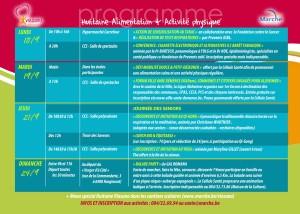 programme activités Marche